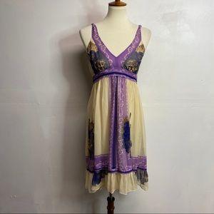 Anthropologie Lil silk dress